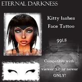 ::ED:: Kitty lashes face tattoo