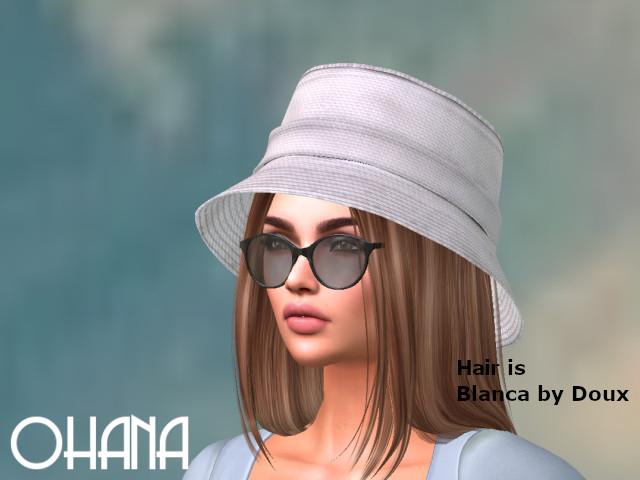 Ohana Bucket Hat White Canvas (WEAR TO UNPACK)