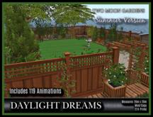 PROMO - TMG - DAYLIGHT DREAMS* Backyard Garden with 119 Animations
