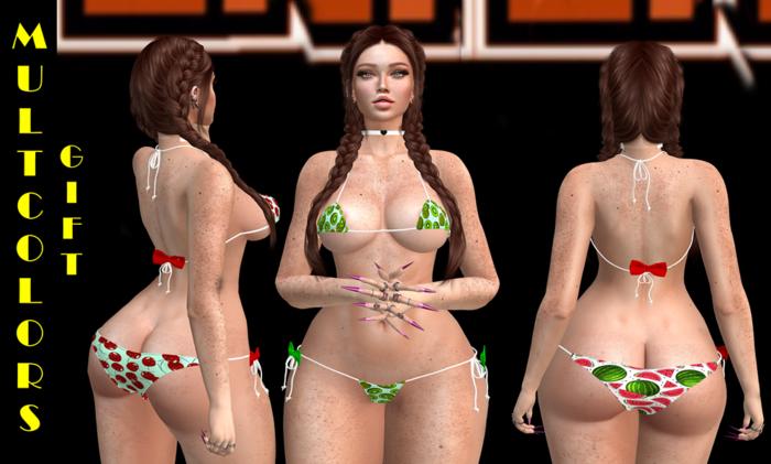 *INT* Mini bikini-Multcolors GIFT