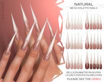 "[LERONSO] Mesh stiletto nails ""Natural"""