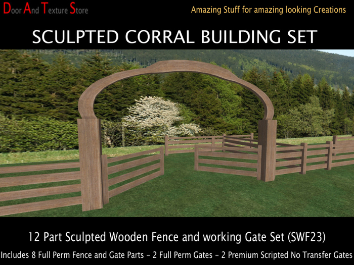 Corral Gate And Sculpted Fence Building