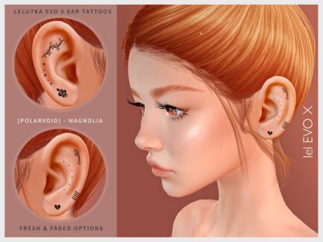 [POLARVOID] Magnolia - EvoX Ear Tattoos
