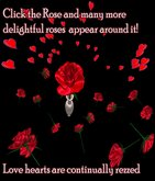 Valentines Romantic Rose, Click to rain beautiful roses