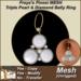 Freya's Finest MESH Triple Pearl & Diamond Belly Ring