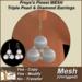 Freya's MESH Triple Pearl & Diamond Gold Earrings