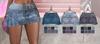 Graffitiwear Pleated Denim Skirt Fatpack