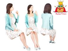 Meshed Potato - Asian Sitting Girl Mesh Person - Full Perm Mesh