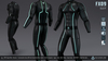 FX09 CatSuit Black (MESH AVATARS FITTED PACK) [Neurolab Inc.]