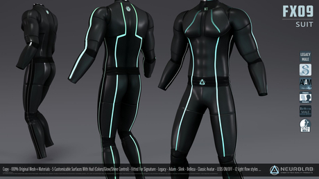 FX09 CatSuit (Fitted For Men) [Neurolab Inc.]