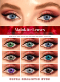 RAMILLA. - Malakite Lenses (Lelutka Evo, Catwa, Genus) DEMO