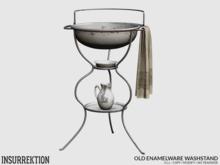 [IK] Old Enamelware - Washstand