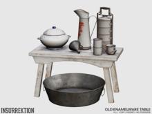 [IK] Old Enamelware - Table