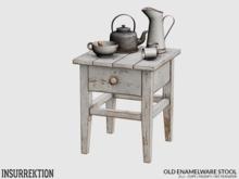 [IK] Old Enamelware - Stool