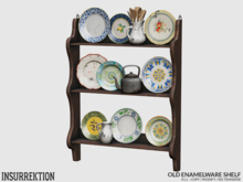 [IK] Old Enamelware - Shelf