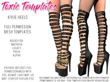 Toxic Templates - Full Permission Mesh Kit - Kylie Heels - For Maitreya Lara, Legacy, Belleza Freya & Kupra High Feet