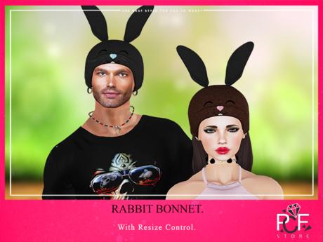 ::PCF:: Rabbit Bonnet Easter Wear me/Touch me