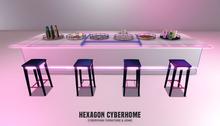 HEXAGON lofi bar white