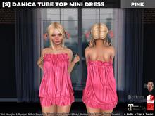 [S] Danica Tube Top Mini Dress Pink