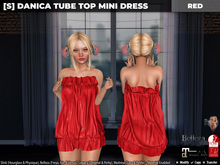 [S] Danica Tube Top Mini Dress Red