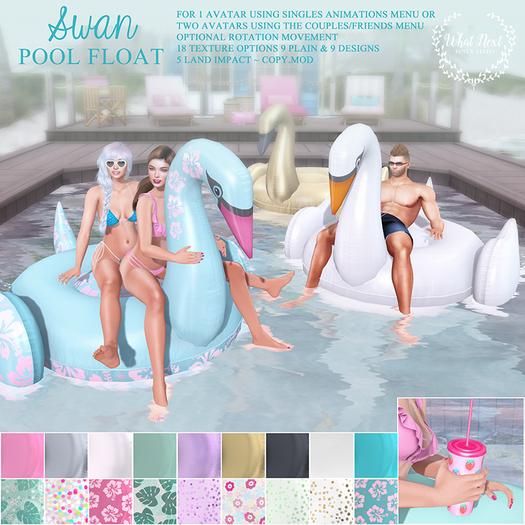 {wn} Swan Pool Float