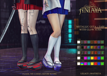 :: ANTAYA :: Metallic geta + tabi with glow aura (wear)