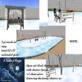 The Open Air Oval skate ring with skate giver-Box