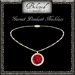 Beloved Jewelry : Garnet Pendant Gold Necklace