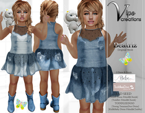 [Vips Creations] - Original Mesh Dress - [Beatriz Jeans-Kid]-Kids Dress