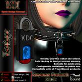 KDC Keyless padlock - black