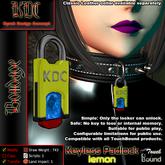 KDC Keyless padlock - lemon