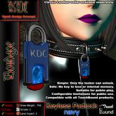 KDC Keyless padlock - navy