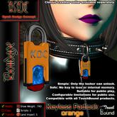 KDC Keyless padlock - orange
