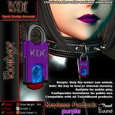 KDC Keyless padlock - purple