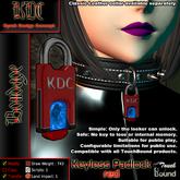 KDC Keyless padlock - red