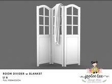 SUMMER SALE 50% OFF - Joolee Tee Builders - Room Divider w Blanket