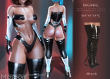 [[ Masoom ]] Bionic Boots Black - Kupra, Legacy, Legacy Perky, Legacy Petite, Lara, Lara Petite