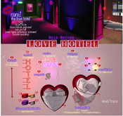 (Milk Motion) heart neon table lamp - red