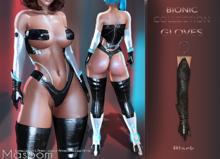 [[ Masoom ]] Bionic Gloves Black - Kupra, Legacy, Legacy Perky, Legacy Petite, Lara, Lara Petite