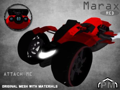 :PM: Cyberpunk Motorcycle Marax - Red