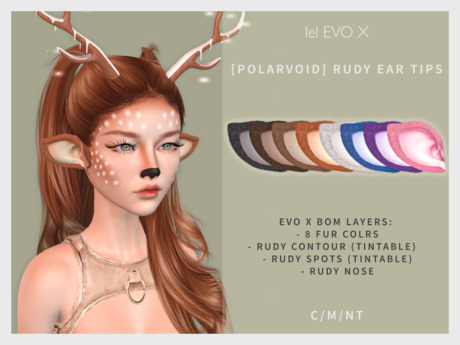 [POLARVOID] Lelutka EvoX Rudy Ear Tips