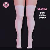 uh-oh: (White) Gloria Lace Stockings - BOM,Kupra,Omega