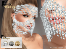 LB - Geena Crystal Face Headpiece *MATERIALS ENABLED*