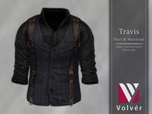 //Volver// Travis Shirt & Waistcoat - Black