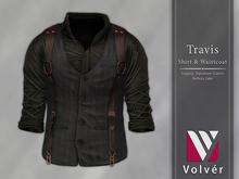 //Volver// Travis Shirt & Waistcoat - Dark Army