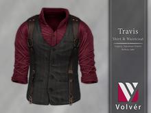 //Volver// Travis Shirt & Waistcoat - Juneberry