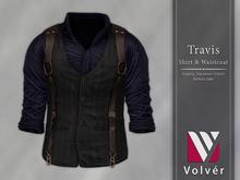 //Volver// Travis Shirt & Waistcoat - Navy