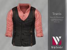 //Volver// Travis Shirt & Waistcoat - Pink