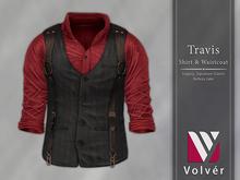 //Volver// Travis Shirt & Waistcoat - Red
