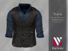 //Volver// Travis Shirt & Waistcoat - Spruce